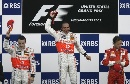 图文:[F1]美国大奖赛决赛 领奖台上的车手