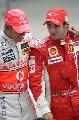 图文:[F1]美国大奖赛决赛 汉密尔顿和马萨