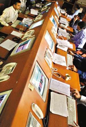 印度孟买的证券交易中心。(资料图片)