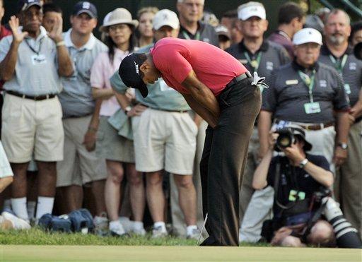 表情 无缘/组图:07美国公开赛决赛老虎无缘冠军痛苦表情