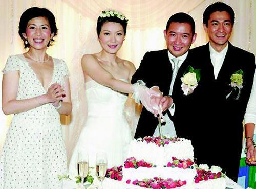 杜汶泽/组图:人生如戏爱情甜蜜港台明星很罕见结婚照