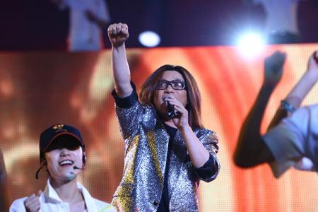 图文:奥运城市志愿者招募主题活动 郭峰献唱