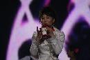 图文:奥运城市志愿者招募活动 福娃乐器表演