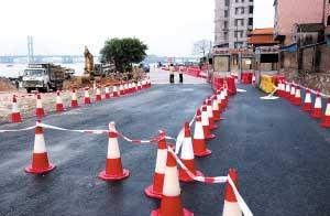 位于鹤山的九江渡口(战备码头对面)已整修待用。时报记者 郑启文 摄