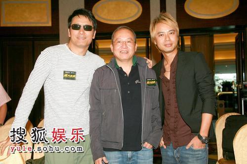2007年6月18日,香港,无线《岁月风云》主题曲MV首播礼。苗侨伟 李克勤