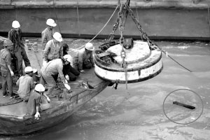第三次打捞也只收获一些破铜烂铁。