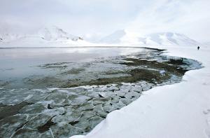 北极冰雪融化比10年前早了两个星期。