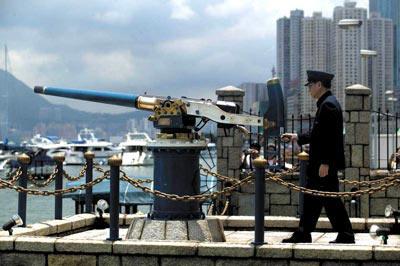 午炮——殖民历史给香港留下的印记之一 本报记者 王轶庶/图