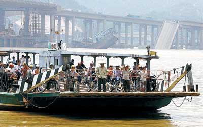 九江战备码头开渡