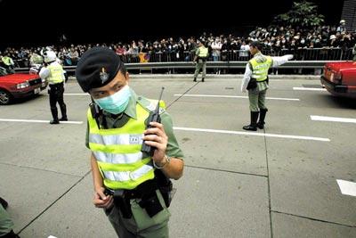 2003年4月,SARS依旧肆虐香港 本报记者 王轶庶/图