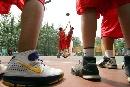 图文:2007年奥林匹克体育文化节 现场篮球比赛