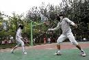 图文:2007年奥林匹克体育文化节 现场击剑比赛