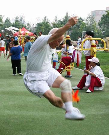 图文:奥林匹克文化节盛大开幕 身手敏捷