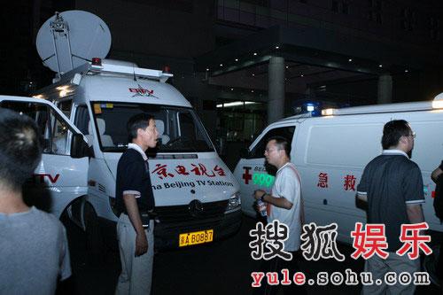 北京电视台的直播车