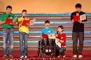 图文:奥林匹克文化节揭幕 运动员们做精彩朗读