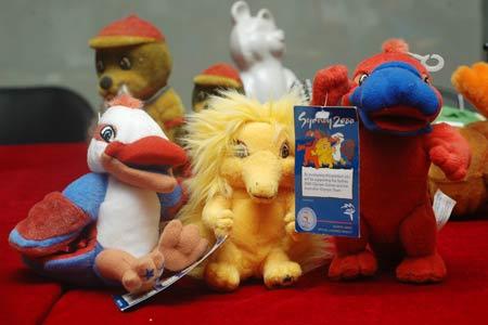 图文:奥林匹克收藏博览会 悉尼奥运会吉祥物