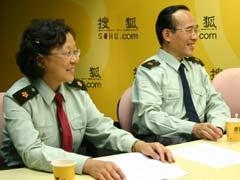 军区总院范萍副主任和刘端祺主任