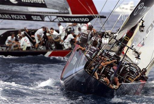 美洲杯帆船赛 决赛 图文/图文:美洲杯帆船赛决赛第4战风不平浪不静