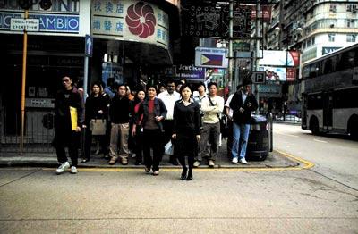 香港人遵守规则是出了名的   本报记者 王轶庶/图