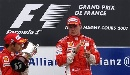 图文:F1法国站正赛 莱科宁为队友鼓掌