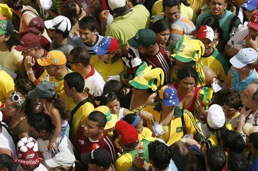 巴西球迷占据优势