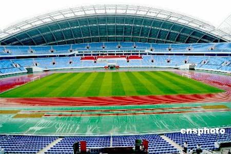 图文:沈阳举行奥运测试赛动员仪式 体育场全景