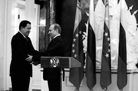 查韦斯和普京亲切握手