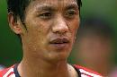图文:国足备战亚洲杯最后热身赛 张帅酷似刘烨