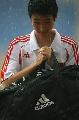 图文:国足备战亚洲杯最后热身赛 大雨影响训练
