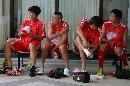 图文:国足备战亚洲杯最后热身赛 五虎将众生相