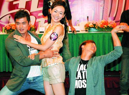 香港先生冠军黄长兴搭挡香港小姐冠军杨思绮。