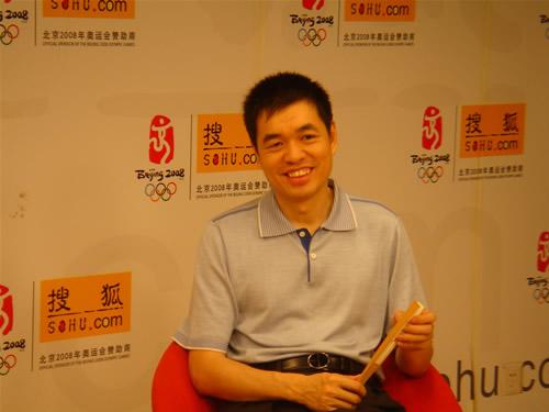 图文:[围棋]马晓春做客搜狐 笑言还玩不好博客