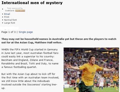 悉尼早报盘点亚洲杯上的海归球员