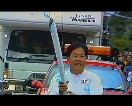 2000悉尼奥运会,马国力参与火炬的传递
