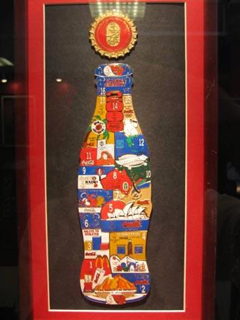图文:收藏博览会在京开幕 可口可乐造型纪念章