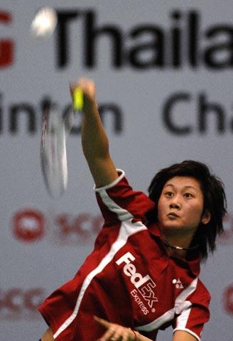 图文:泰国羽毛球公开赛 朱琳晋级女单决赛