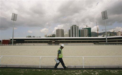 图文:香港奥运马术赛场竣工 场地一角