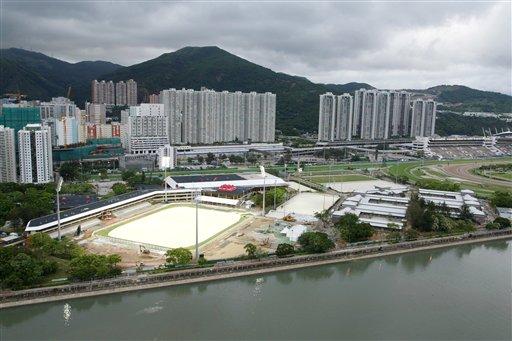 图文:香港奥运马术赛场竣工 沙田马场全景