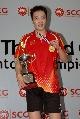 图文:陈宏获泰国公开赛男单冠军 陈宏获得金牌