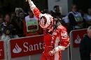图文:[F1]莱科宁获英国站冠军 独特的庆祝动作