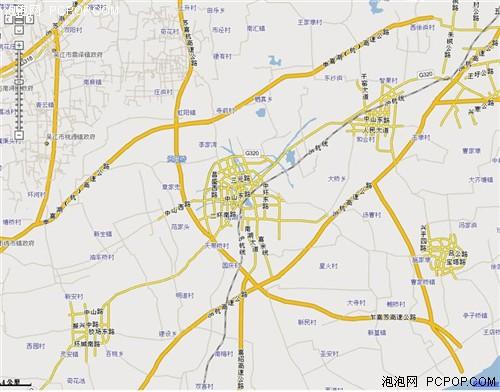 嘉兴的4km比例尺地图 市区面积很小