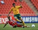 图文:[亚洲杯]澳大利亚1-1阿曼 阿洛伊西遭黑脚
