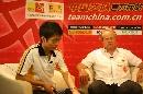 图文:[亚洲杯]阿里汉做客搜狐 伤心处怅然若失