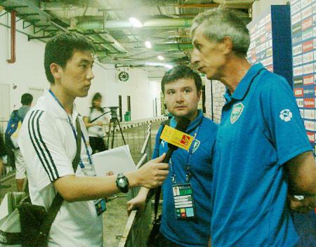 伊里尼耶夫接受搜狐体育独家专访