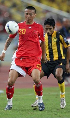 图文:[亚洲杯]中国5-1大马 对手难奈毛剑卿