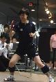 图文:乒乓球队接受测试 张怡宁进行动作测试