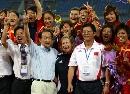 图文:[邀请赛]中国女足夺冠 谢亚龙和杨一民