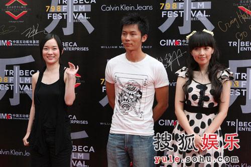 霍思燕和两位华谊新人