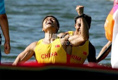 身边的奥运图集- 孟关良杨文军赛后庆祝