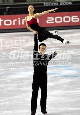 身边的奥运图集- 申雪、赵宏博在训练中